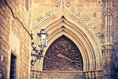 Facade of church in Barcelona Royalty Free Stock Photos