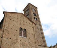 facade of the church dedicated to St. Francis of Assisi in the c Royalty Free Stock Image
