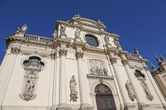 Facade of the church dedicated to the Virgin Mary in Vicenza cit Stock Image