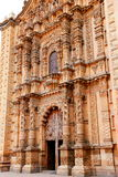 Facade of church del carmen VI Royalty Free Stock Photography