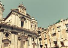 Facade of Church of the Gerolamini, Naples Stock Photo