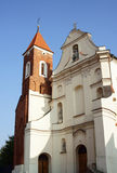 Facade of church in Gniezno. Poland Royalty Free Stock Photography