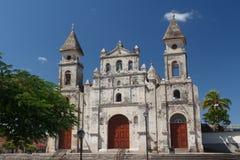 Facade of church in Granada. Nicaragua Stock Images