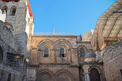 Facade of the Church of the Holy Sepulchre Stock Photo