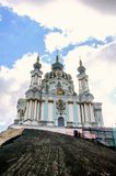 Facade of the church in Kiev. royalty free stock images