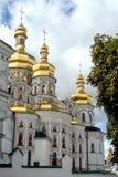 Facade of the church in Kiev. stock photo