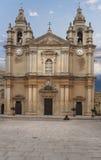 Facade of a church in Malta Royalty Free Stock Photos