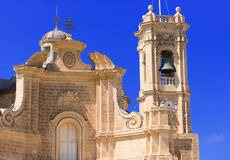 Facade of church at Malta Stock Images