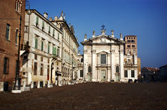 Facade of church in Mantova Royalty Free Stock Photos