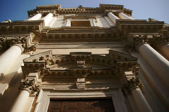 Facade of the church, Mantova Stock Images