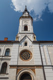Facade of the church in the old town center of Celje Royalty Free Stock Photography