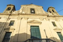 Church in Corleone in Sicily, Italy. Facade of a church in the old town of Corleone, a town known for associating with the mafia in Sicily, Italy Stock Photography
