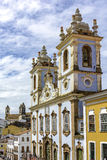 Facade of the Church of Our Lady of the Rosary of the Blacks Liners. In the Pelourinho in Salvador. We had the beginning of its construction in 1704 and remains Royalty Free Stock Image