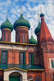 Facade of the Church of Saint Nicolas in Yaroslavl, Russia. Stock Photos