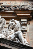 The facade of the Church of San Gaetano, Florence. The statue of woman on the pediment of the San Gaetano`s church located in Antinori square, in Florence, Italy Royalty Free Stock Image