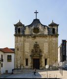 Facade of the church of San Juan de Almedina, on San Juan street and next to the national museum stock photography