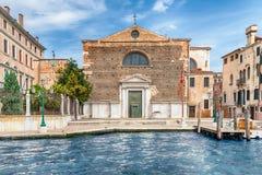 Facade of San Marcuola Church facing Grand Canal, Venice, Italy Stock Photos