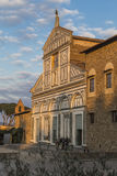 Facade of the church of San Miniato al Monte Stock Image