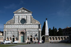 Facade of Church Santa Maria Novella Stock Image