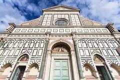 Facade of Church Santa Maria Novella di Firenze Royalty Free Stock Images