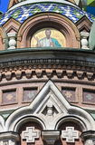 Facade of the Church of the Saviour on Spilled Blood Stock Photo