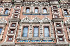 Facade of the church of Saviour on Spilled Blood in St. Petersbu Royalty Free Stock Image
