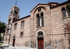 Facade of a Church. Site elevation of a Church, Ekklisia Agia Triada Rosiki, Athens, Greece Royalty Free Stock Image