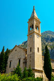The facade of the church of St. Eustace. In Dobrota, Montenegro Stock Images