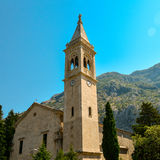 The facade of the church. Of St. Eustace in Dobrota, Montenegro Royalty Free Stock Photos