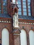 Facade. Of the church with a statue Royalty Free Stock Photos