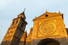 Facade of a church in Talavera at dusk Royalty Free Stock Image