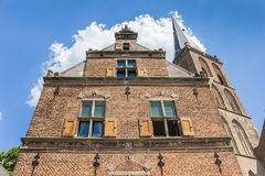 Facade and church tower in Lochem Stock Photography