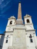 Facade Church trinita monti Rome Italy Stock Photo