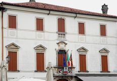 Facade of City Hall Breganze in the province of Vicenza in the Veneto (Italy) Royalty Free Stock Photography