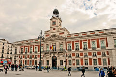 House of the Post Office in Madrid Royalty Free Stock Photography