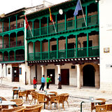 Facade of City Hall of Chinchon Stock Images