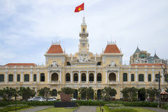The facade of the city hall in Ho Chi Minh city. Vietnam Stock Photos