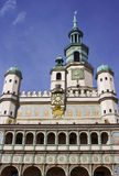 Facade of City Hall in Poznan Royalty Free Stock Photo