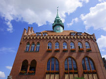 Facade of City Hall in Wrzesnia Royalty Free Stock Photos