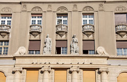 Facade of the city palace in neo-Romantic style, Belgrade Royalty Free Stock Images