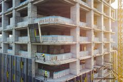 Facade Cladding of the Building. royalty free stock images