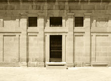 Facade of classic building, sepia hue Stock Photos