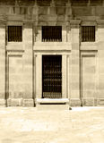 Facade of classic building, sepia hue Royalty Free Stock Image