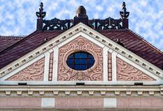 Facade on classical building with ornaments and sculptures-9 Royalty Free Stock Photography