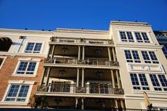 Facade of classical residental building in USA Royalty Free Stock Photos