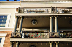 Facade of classical residental building in USA Stock Photography