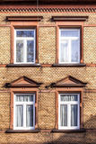 Facade with clinker bricks Royalty Free Stock Image