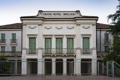Closed hotel, Gran Hotel Orologio, Abano Terme, Italy royalty free stock photo