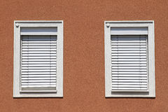 Facade with closed windows Royalty Free Stock Photo