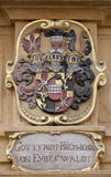 Facade coat of arms on the Landhaus historic center listed as World Heritage by UNESCO in Graz Stock Photo